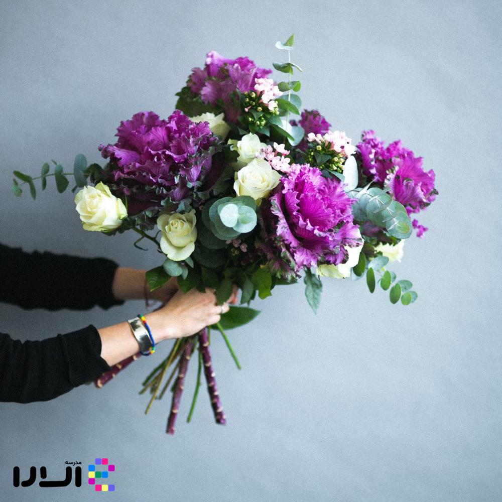 گل آرایی با کلم تزئینی