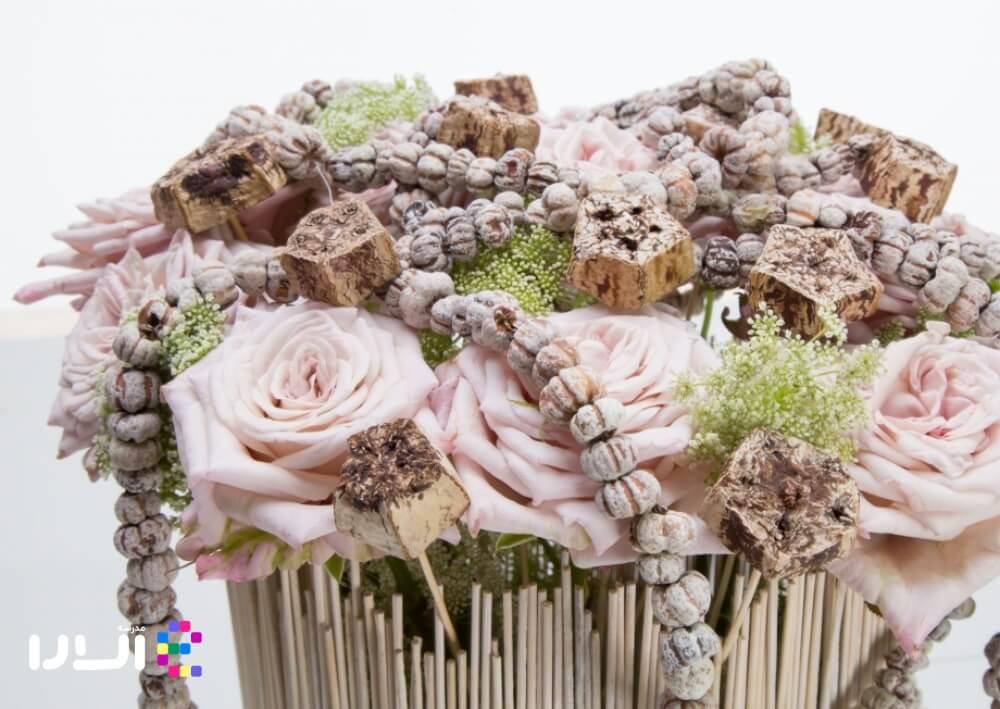 آموزش گل آرایی با گل رز