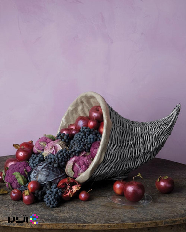 میوه آرایی با سبد